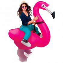 COSTUME AUTO GONFLABLE FLAMANT ROSE