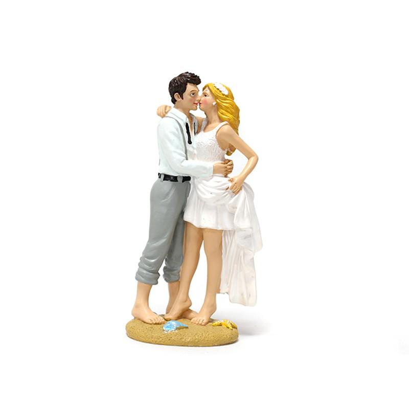 COUPLE MARIAGE SUR LE SABLE 16 CM
