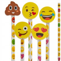 CRAYON AVEC GOMME EMOTICON