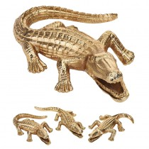 DÉCO ALLIGATOR ALUMINIUM OR 15CM