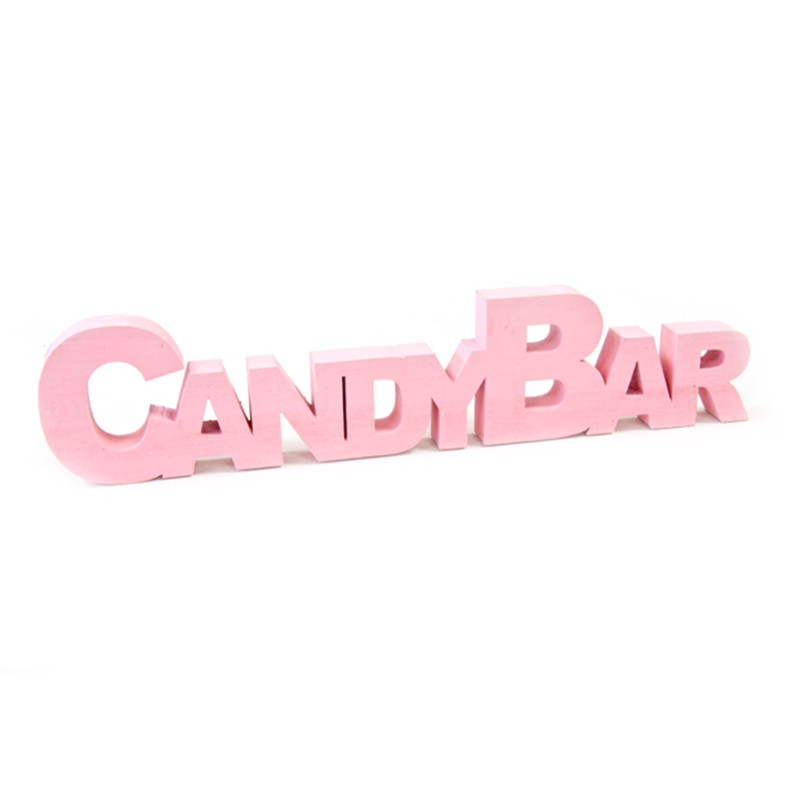 DÉCO TABLE CANDY BAR ROSE 27 CM