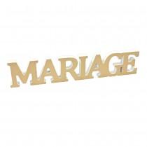 DÉCO TABLE MÉTALLISÉE MARIAGE 25X5X1.2CM OR