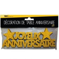 DÉCOR DE TABLE ANNIVERSAIRE OR