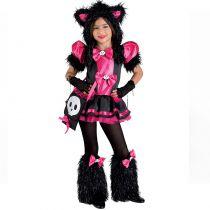 costume de chat rose pour fille carnaval