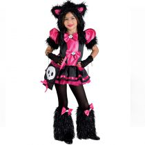 costume de chat rose pour fille carnaval