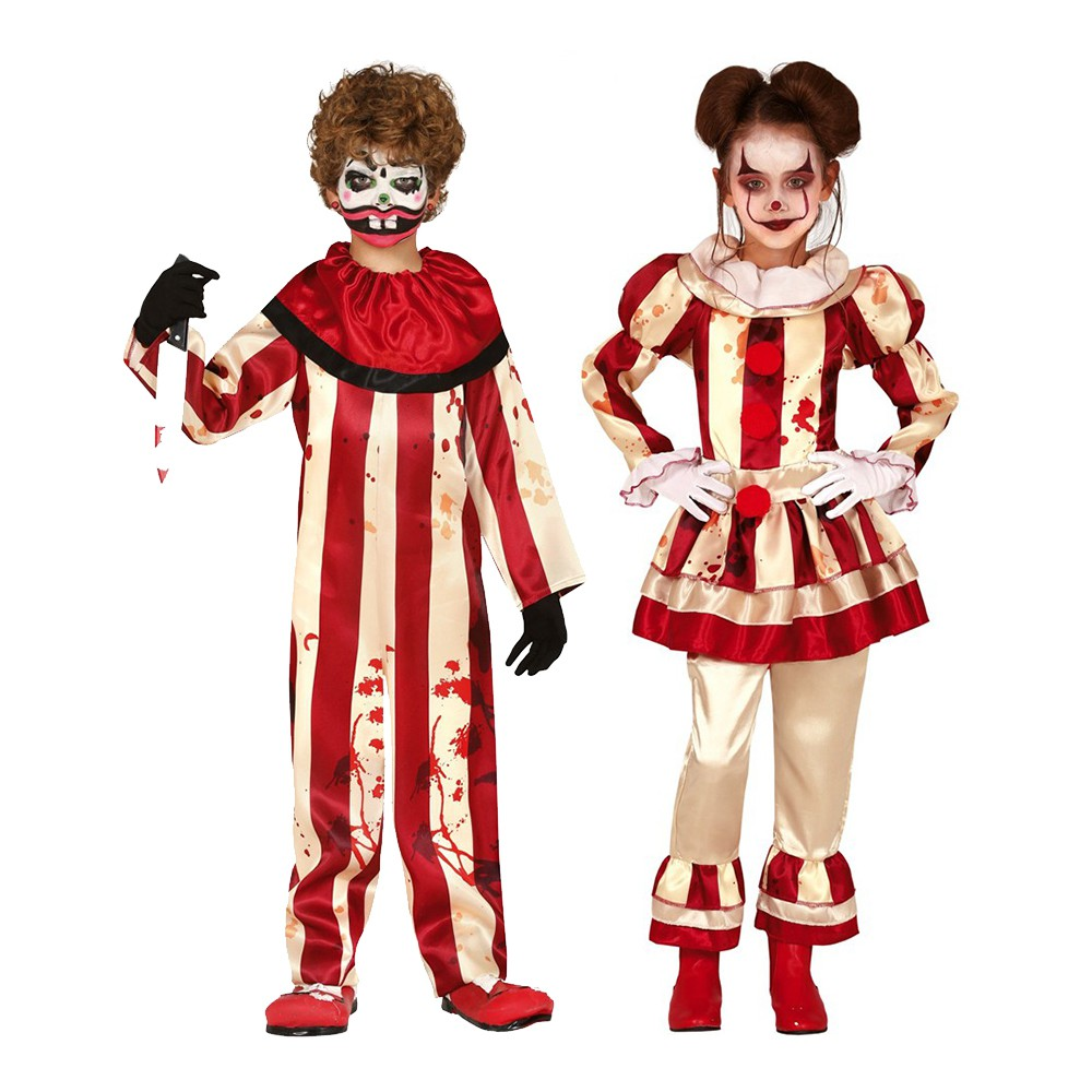 DÉGUISEMENT CLOWN HALLOWEEN DUO ENFANT