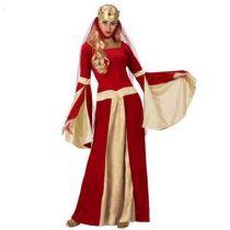déguisement de dame médiéval rouge
