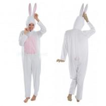déguisement de lapin blanc peluche pour femme 164 cm