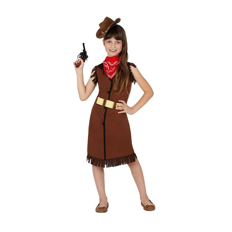 D guisement enfant de cowgirl marron - Deguisement cowgirl fille ...