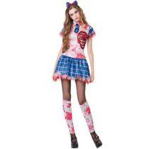 déguisement halloween étudiante zombie adolescente