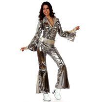 déguisement disco argent femme