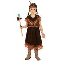 déguisement fille indienne marron