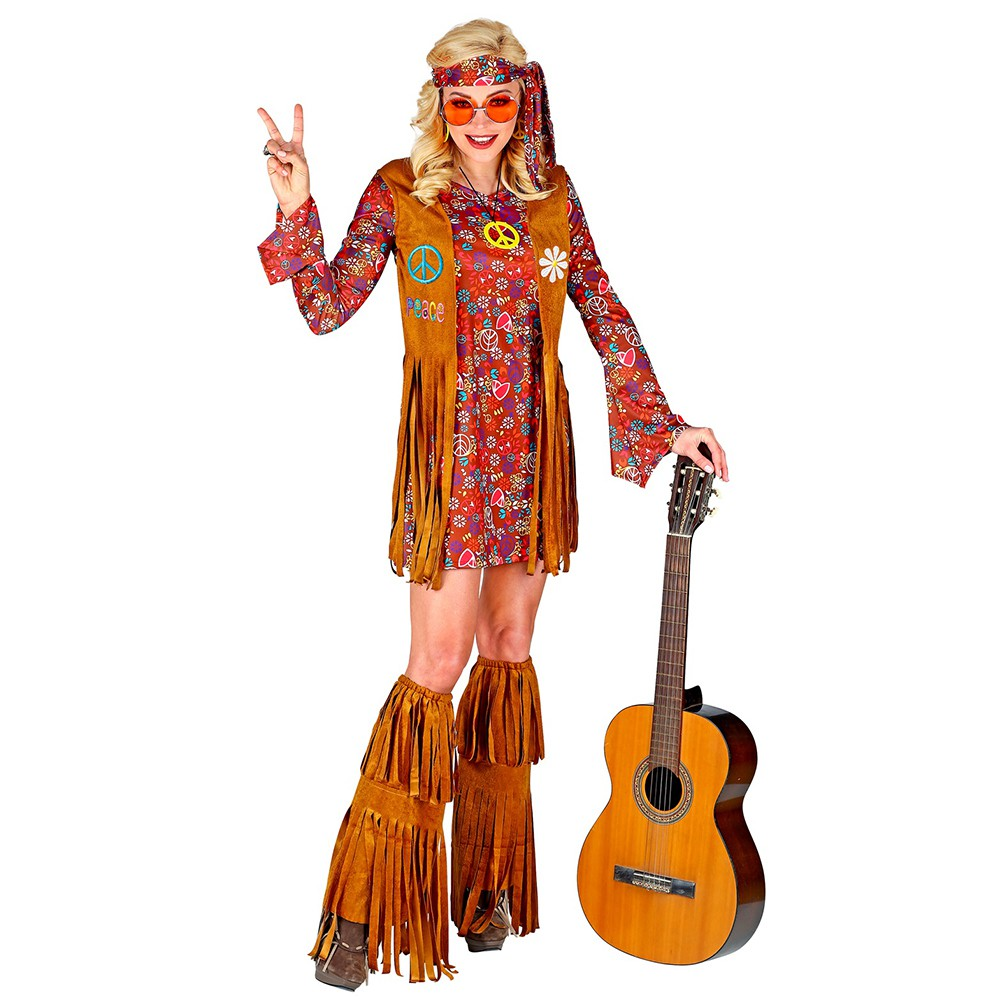 DÉGUISEMENT HIPPIE PEACE AND LOVE FEMME