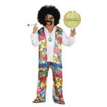 déguisement hippie rainbow adulte