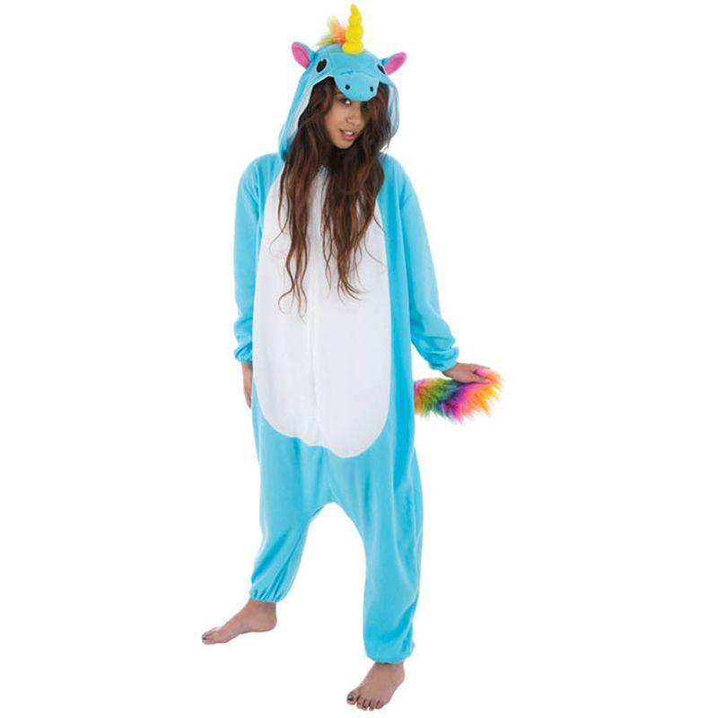 déguisement kigurumi licorne bleue