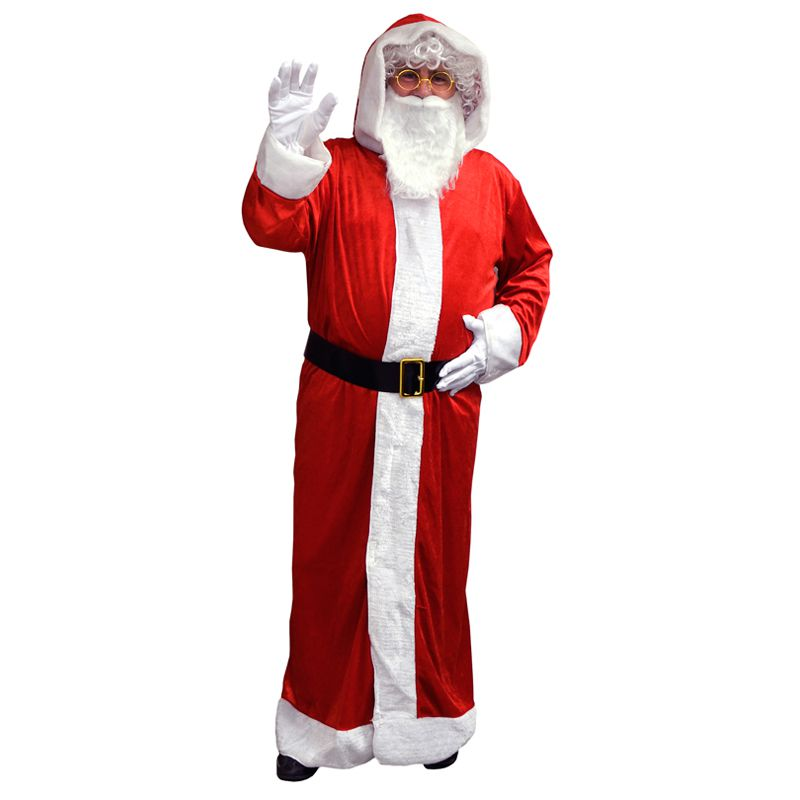 D guisement p re no l velours pas cher adulte - Costume pere noel pas cher ...