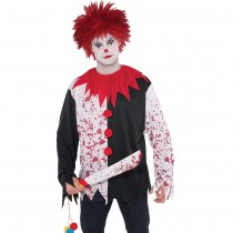 DÉGUISEMENT T-SHIRT CLOWN FOU ADULTE