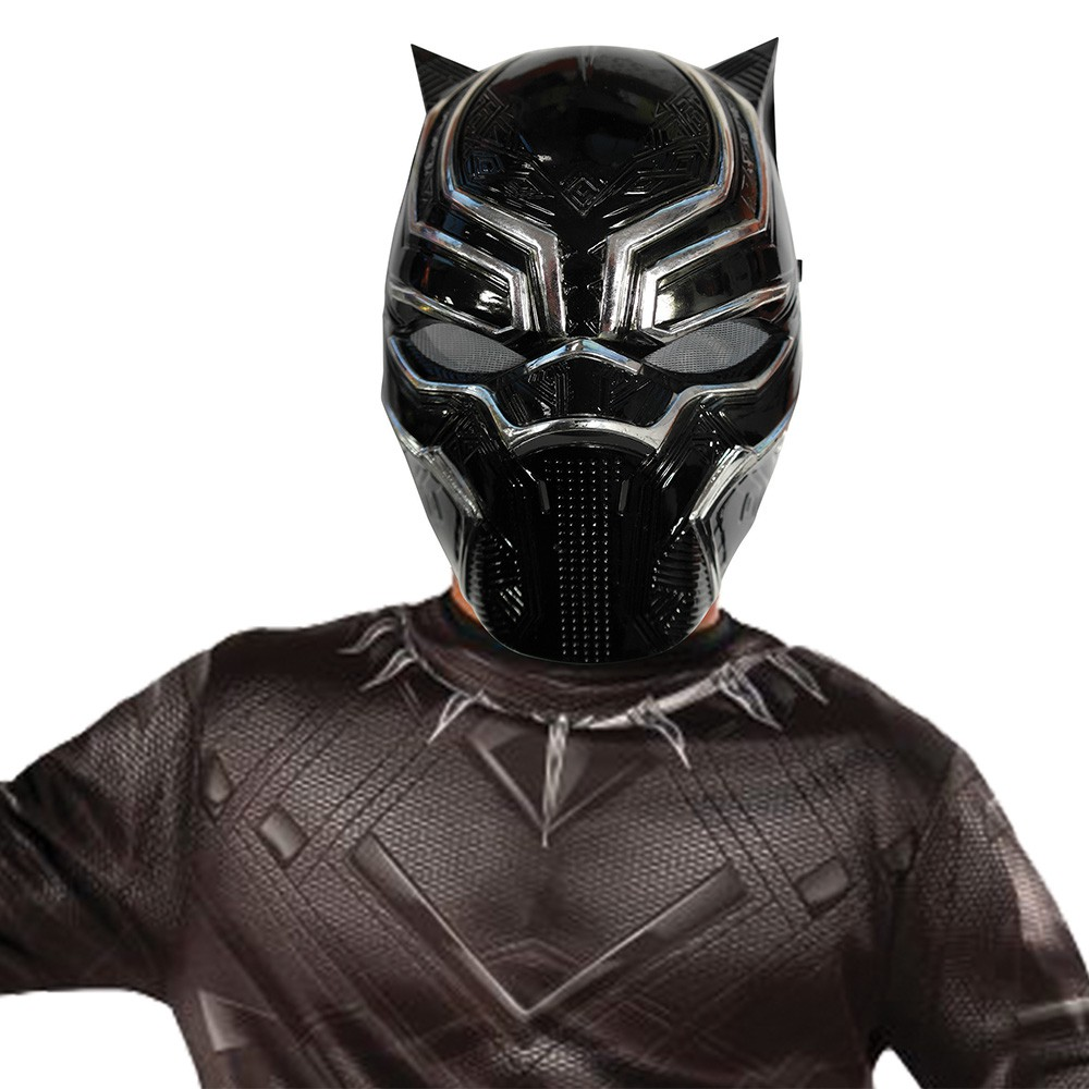 DEMI-MASQUE BLACK PANTHER PVC ENFANT