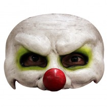 DEMI-MASQUE CLOWN EFFRAYANT LATEX