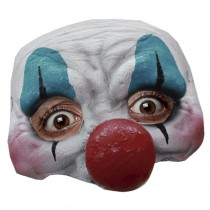 DEMI-MASQUE CLOWN HEUREUX LATEX
