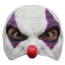 DEMI-MASQUE CLOWN VIOLET LATEX