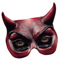 DEMI-MASQUE DIABLE LATEX