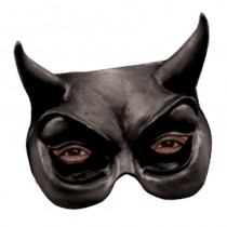 DEMI-MASQUE DIABLE NOIR LATEX
