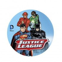 DISQUE EN SUCRE 16 CM JUSTICE LEAGUE