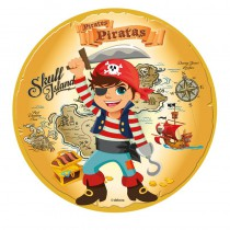 DISQUE EN SUCRE COMESTIBLE PIRATES 16 CM