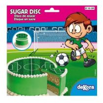 DISQUE EN SUCRE FOOTBALL 16 CM