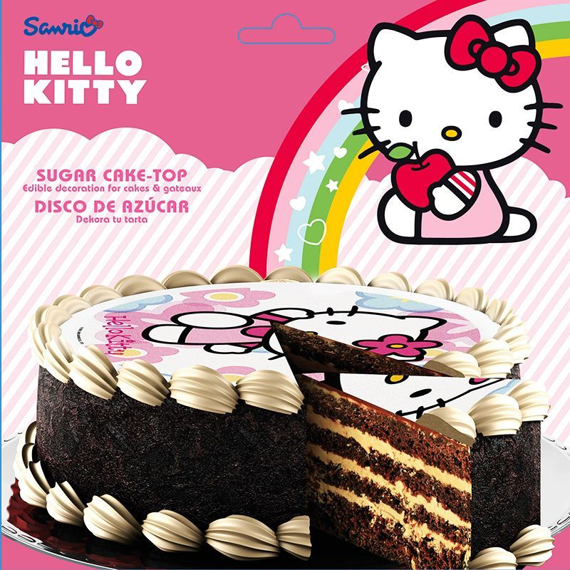 DISQUE EN SUCRE HELLO KITTY 16 CM