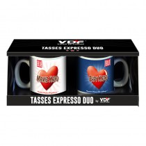 DUO TASSES EXPRESSO PAPY ET MAMY KDO PROMO