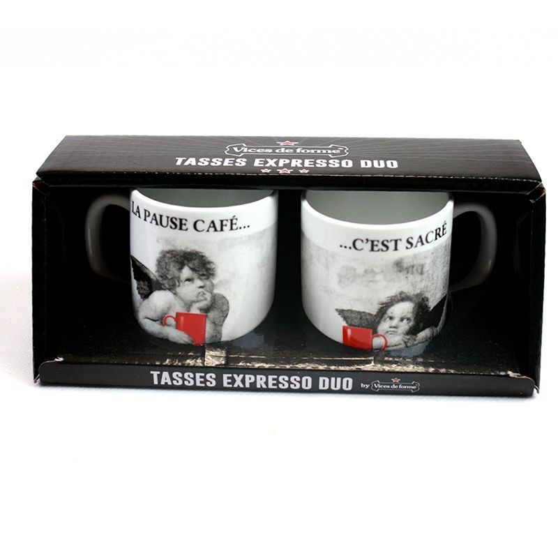 DUO TASSES EXPRESSO PAUSE CAFE