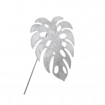 FEUILLE PHILO MONSTERA ZINC SUR PIC 21X26CM