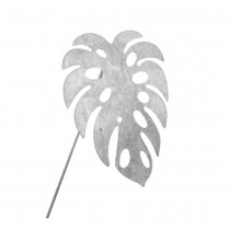 FEUILLE PHILO MONSTERA ZINC SUR PIC 30X36CM