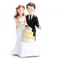 déco mariage figurine mariés gâteau 16 cm