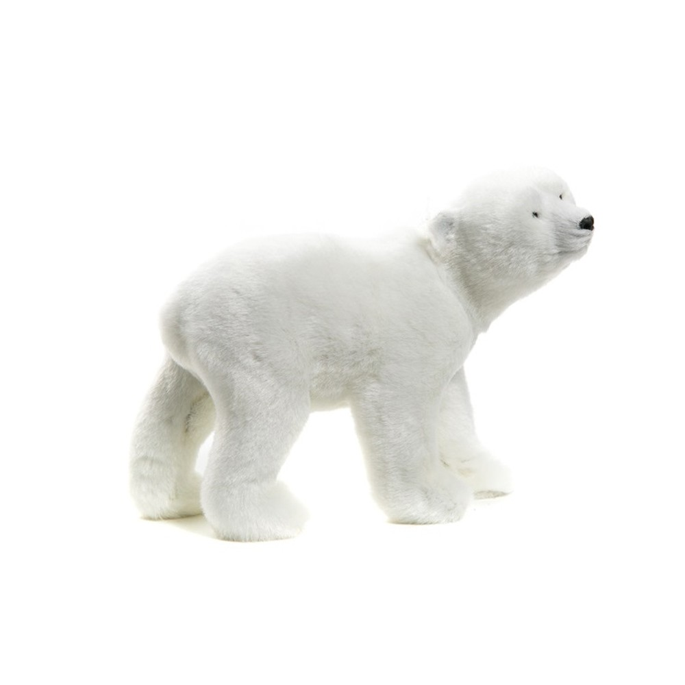 FIGURINE OURS POLAIRE GRAND NORD 17X9X14CM BLANC