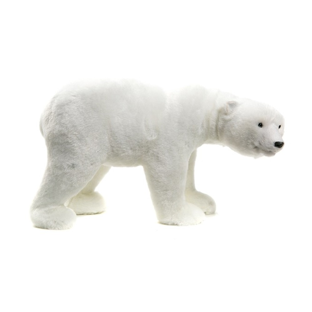 FIGURINE OURS POLAIRE GRAND NORD 27X13X15CM BLANC