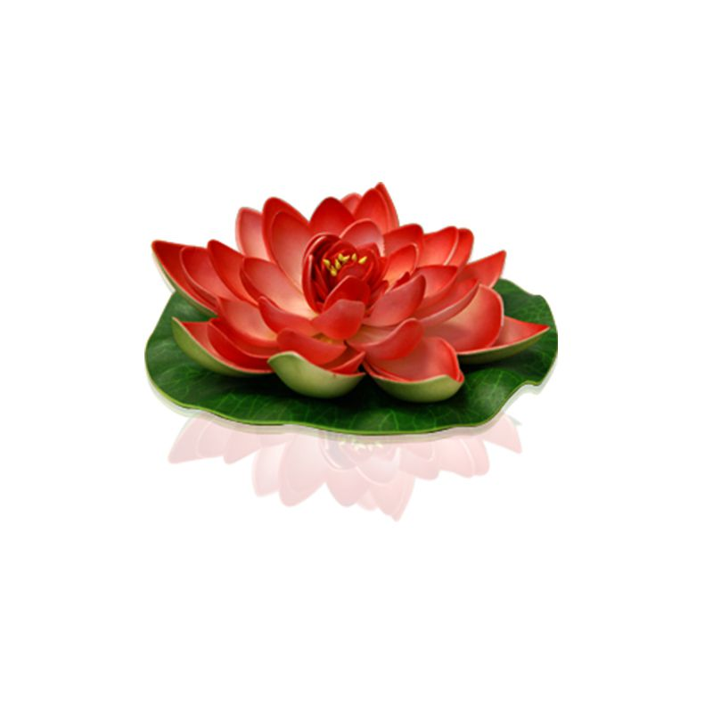 FLEUR DECORATIVE LOTUS ROUGE