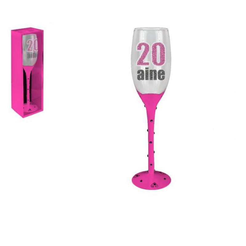 FLUTE CHAMPAGNE 20 AINE ROSE