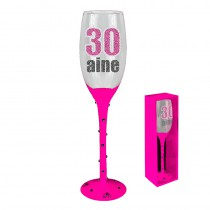 FLUTE CHAMPAGNE 30 AINE ROSE