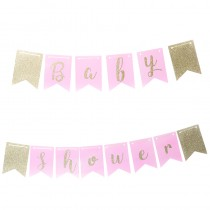 GUIRLANDE BABY SHOWER ROSE 3.5 M