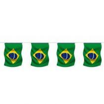 GUIRLANDE DRAPEAU BRÉSIL 5M 12 PAVILLONS