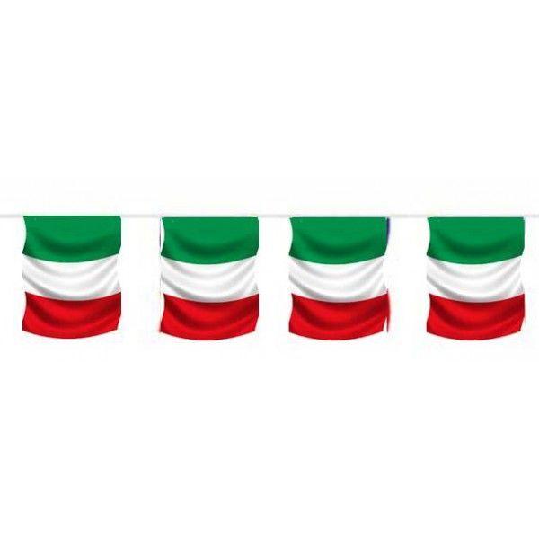 GUIRLANDE DRAPEAU ITALIE 5M 12 PAVILLONS