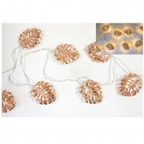 GUIRLANDE FEUILLE 10 LED 165CM ROSE GOLD