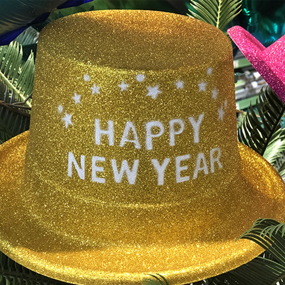HAUT DE FORME OR HAPPY NEW YEAR