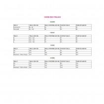 JUPE HAWAÏENNE 45CM - ROSE