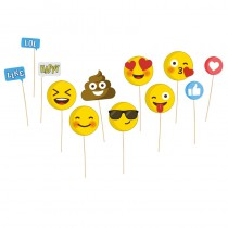 KIT PHOTO BOOTH EMOJICONES 12PCS