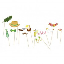 KIT PHOTO BOOTH TROPICAL 13PCS