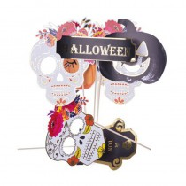 KIT PHOTOBOOTH HALLOWEEN CALAVERA 7 PCS